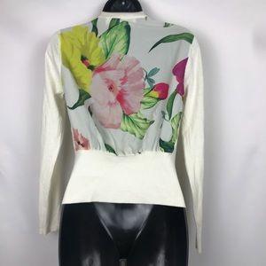 Ted Baker Flower Print Cardigan Sweater